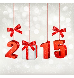 2015 New Years background with gift vector image