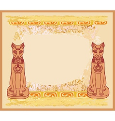 Stylized egyptian cats vector