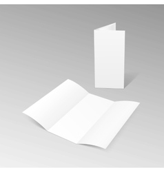 White trifold brochure leaflet zigzag folded flyer vector
