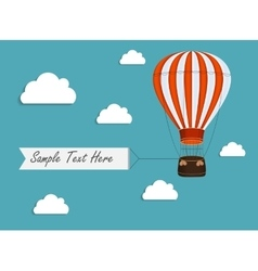 Air balloon background with place for your text vector