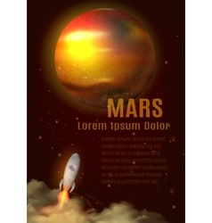 Mars planet poster vector