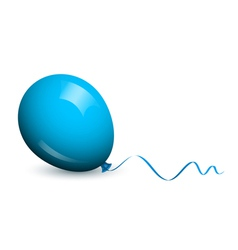 Blue lonely balloon vector