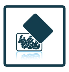 Icon of worm container vector