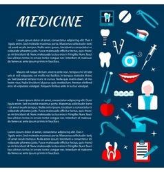Dentistry medicine infromation banner template vector