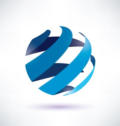 abstract globe symbol vector image