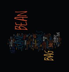 Bean bag lap desk text background word cloud vector