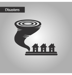 black and white style disaster tornado vector image
