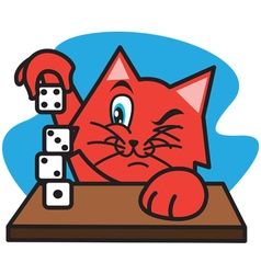 Cat and Dice vector image vector image