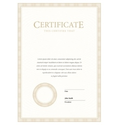 Certificate and diplomas template vector image