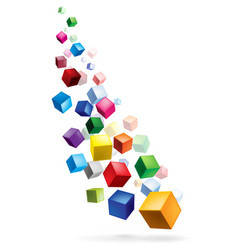 Color cubes in various combinations of position vector