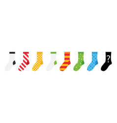Colorful socks icons vector
