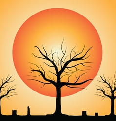dead tree with stub vector image vector image