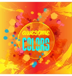 Digital abstract blue and yellow awesome vector image