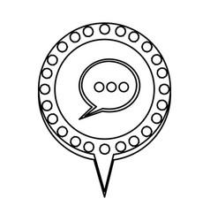 Figure chat bubble dialogue icon vector