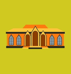 Flat design of retro city house old building vector