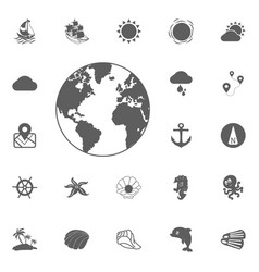 Globe icon of the world vector