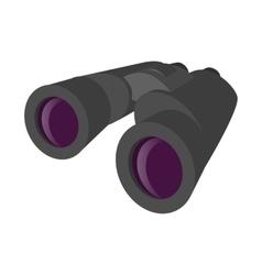 Grey binocular cartoon icon vector image vector image