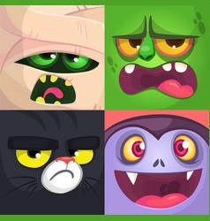 halloween avatars cartoon vector image