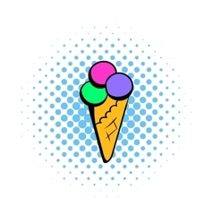 Ice cream comics icon vector