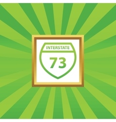 Interstate 73 picture icon vector