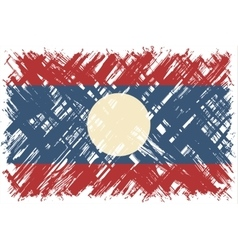 Laotian grunge flag vector image