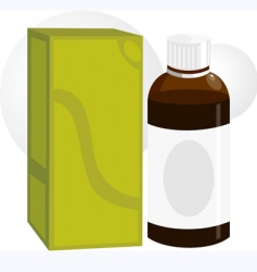 Medicine bottle and packet vector
