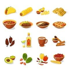 Mexican food set vector