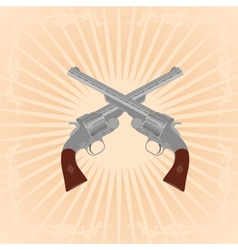 Old revolvers vector