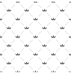 Seamless black pattern with king crowns vector
