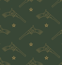 Seamless pattern with revolvers vector image vector image