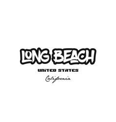 United states long beach california city vector