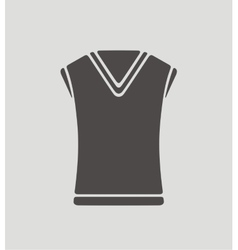 Vest on background vector image vector image