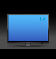 watch tv on dark backgroundl vector image