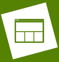 Web window sign white icon obtained as a vector