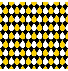 Yellow white black water drops background vector