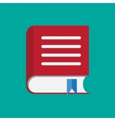 Red book with bookmark icon vector