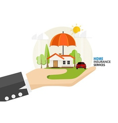 Home insurance business service concept of vector