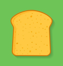 Icon of bread or loaf slice symbol of toast vector