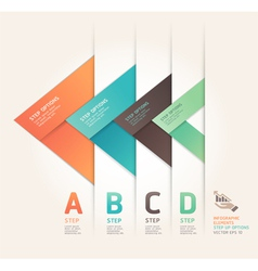 Abstract arrow step options origami style vector image