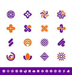 Abstract design elements vector image