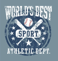baseball best sport vector image