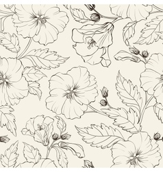 Hibiscuses background vector