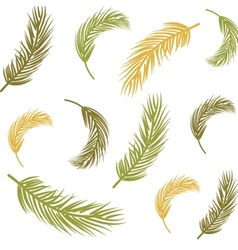 Seamless background with palm leaves vector
