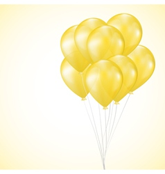 background with yellow balloons vector image