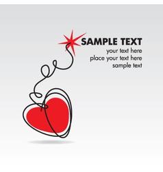 heart bomb vector image