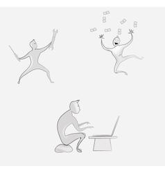 Cartoon men vector image