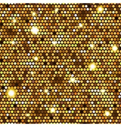 Gold seamless pattern of hexagons vector