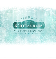 Merry Christmas with snowflakes and light vector image