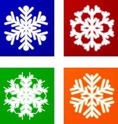 Luminous snowflakes vector