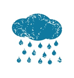 Grunge raining icon vector